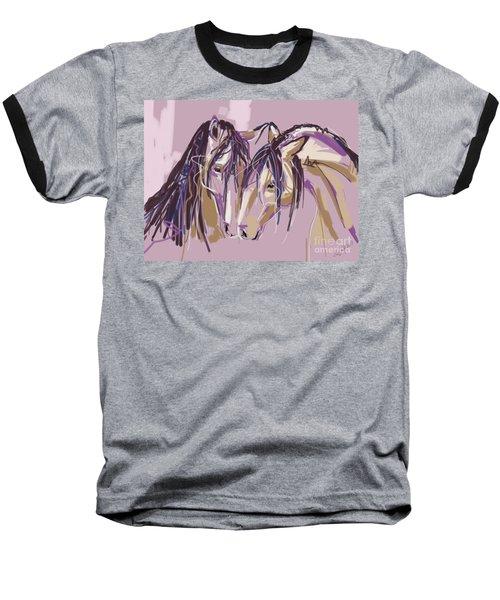 horses Purple pair Baseball T-Shirt