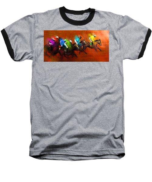Horses Racing 01 Baseball T-Shirt