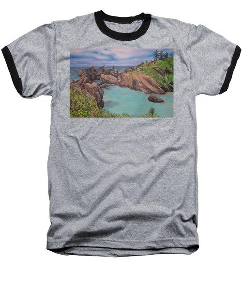 Horseshoe Bay Beach Bermuda Baseball T-Shirt