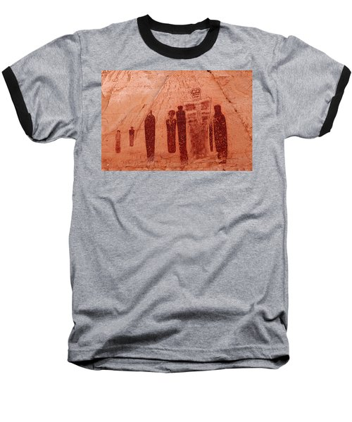 Horseshoe Canyon Pictographs Baseball T-Shirt