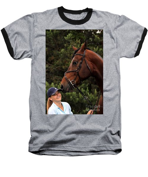 Horsie Nudge Baseball T-Shirt