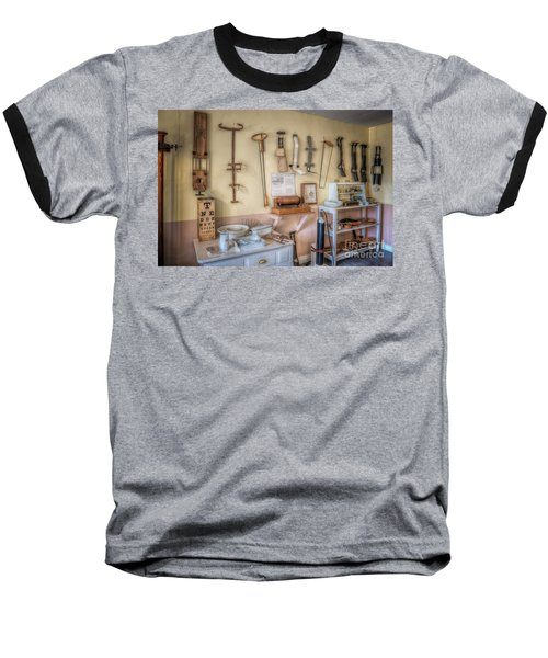 Hospital Museum Baseball T-Shirt by Adrian Evans
