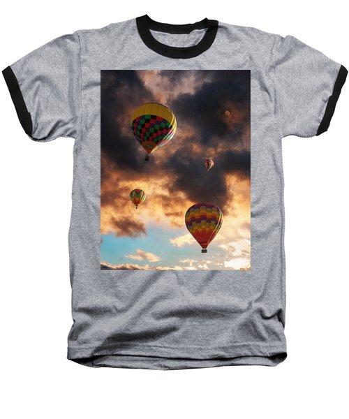 Hot Air Balloons - Chasing The Horizon Baseball T-Shirt