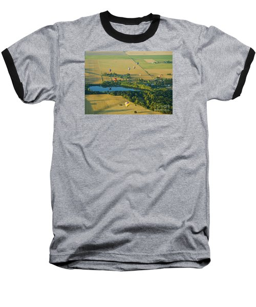 Baseball T-Shirt featuring the photograph Hot Air Reflection by Nick  Boren