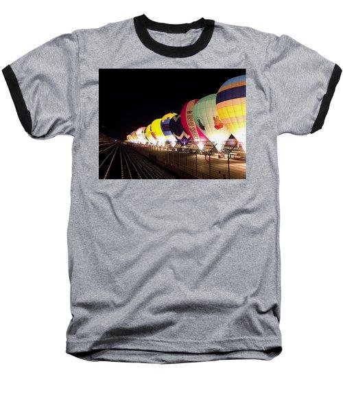 Balloon Glow Baseball T-Shirt by John Swartz