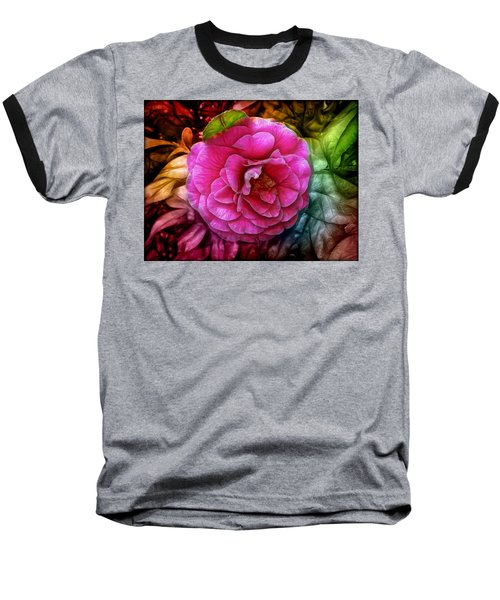 Hot And Silky Pink Rose Baseball T-Shirt