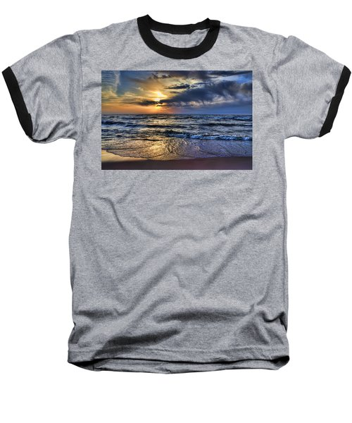 Hot April Sunset Saugatuck Michigan Baseball T-Shirt
