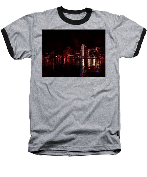 Hot City Night Baseball T-Shirt