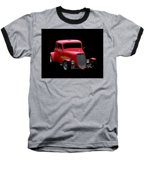 Hot Rod Baseball T-Shirt featuring the photograph Hot Rod Red by Aaron Berg