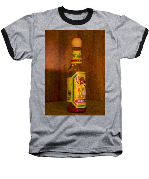 Hot Sauce Two Baseball T-Shirt by Cathy Anderson