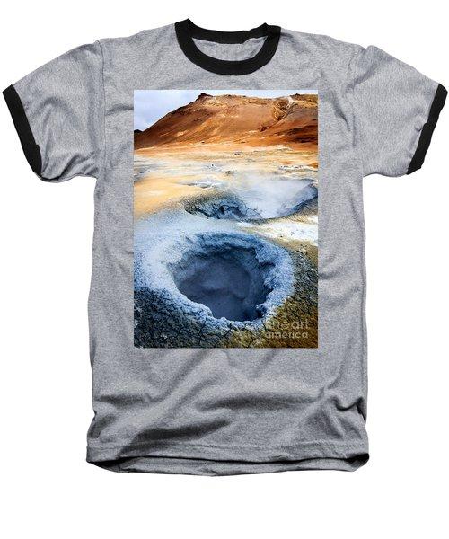 Baseball T-Shirt featuring the photograph Hot Springs At Namaskard In Iceland by Peta Thames