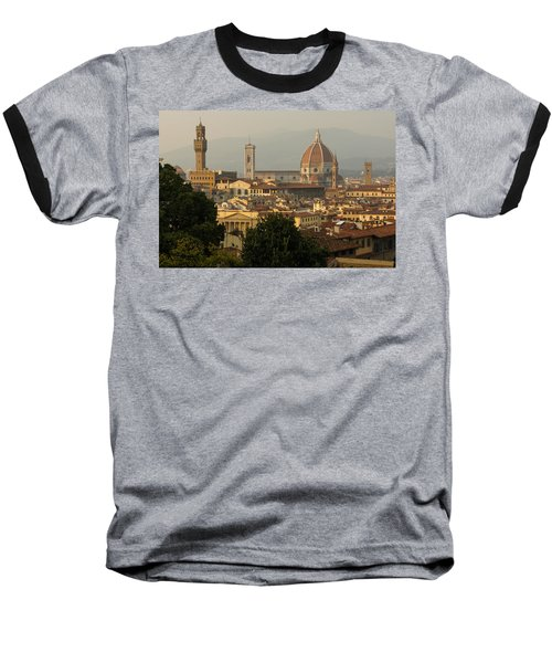 Hot Summer Afternoon In Florence Italy Baseball T-Shirt by Georgia Mizuleva