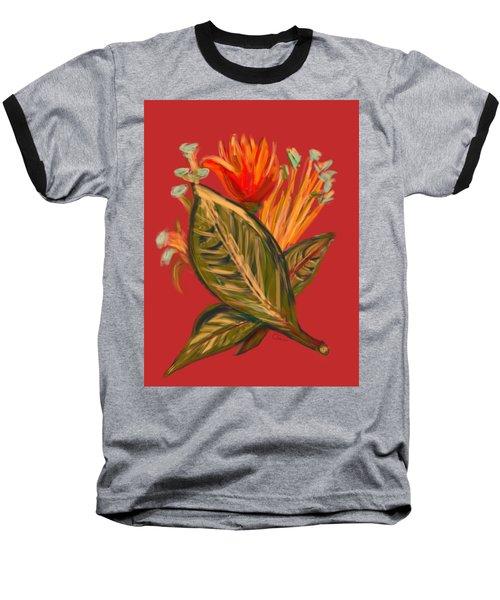 Baseball T-Shirt featuring the digital art Hot Tulip L by Christine Fournier