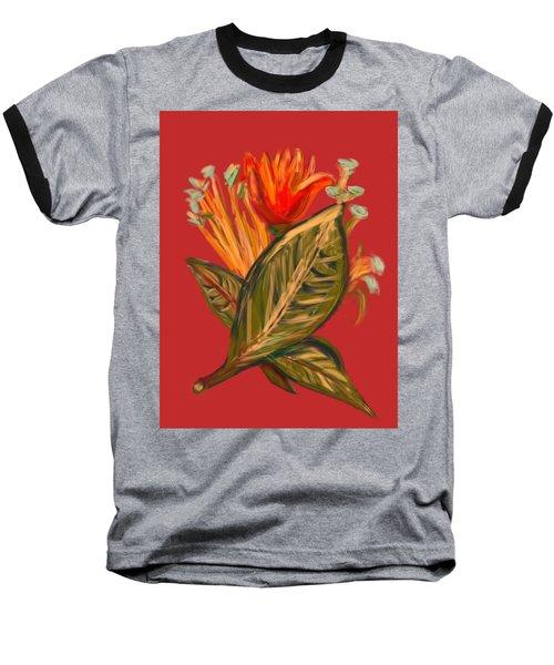 Baseball T-Shirt featuring the digital art Hot Tulip R by Christine Fournier