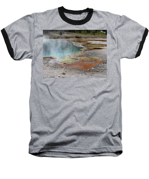 Baseball T-Shirt featuring the photograph Hot Water At Yellowstone by Laurel Powell