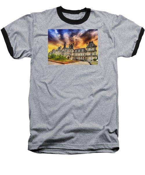 Sunset At The Hotel De Ville Baseball T-Shirt