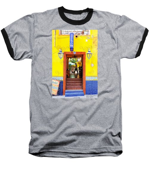 Baseball T-Shirt featuring the photograph Hotel Estancia - Ajijic - Mexico by David Perry Lawrence