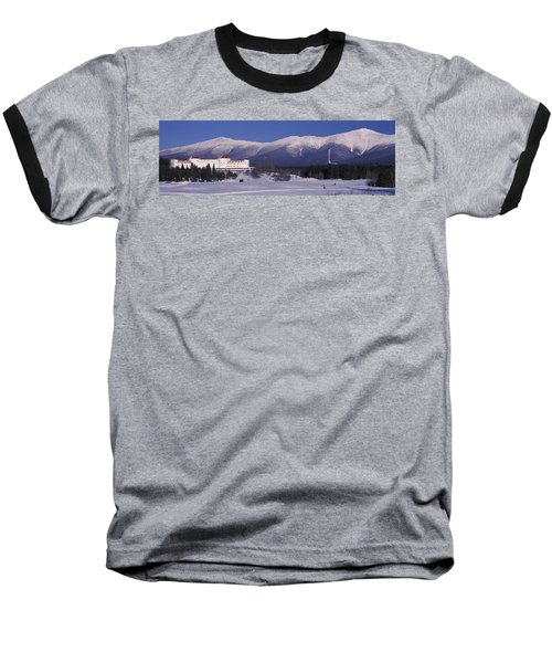 Hotel Near Snow Covered Mountains, Mt Baseball T-Shirt