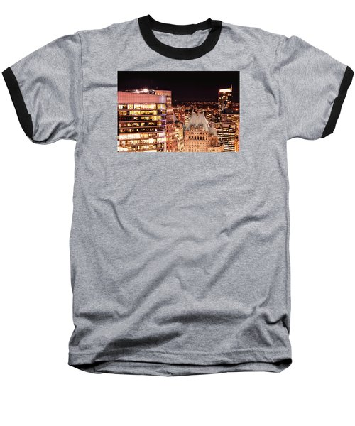 Baseball T-Shirt featuring the photograph Hotel Vancouver And Wall Center Mdccv by Amyn Nasser