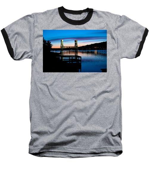 Houghton Bridge Sunset Baseball T-Shirt