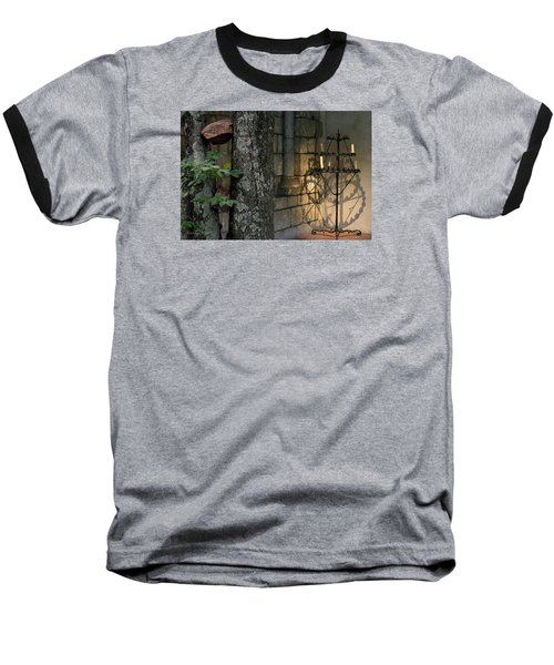 Haunted Cloister - Mea Culpa Baseball T-Shirt by Yvonne Wright