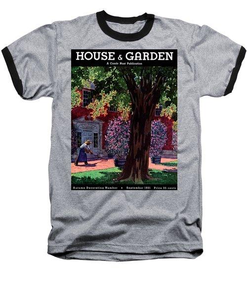 House & Garden Cover Illustration Of A Gardener Baseball T-Shirt