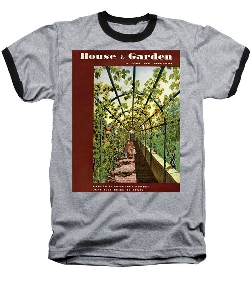 House & Garden Cover Illustration Of Young Girls Baseball T-Shirt