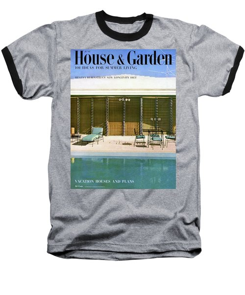 House & Garden Cover Of A Swimming Pool At Miami Baseball T-Shirt