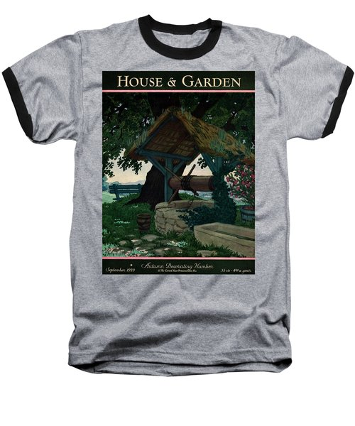 House And Garden Autumn Decorating Number Cover Baseball T-Shirt