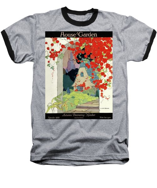 House And Garden Autumn Decorating Number Baseball T-Shirt