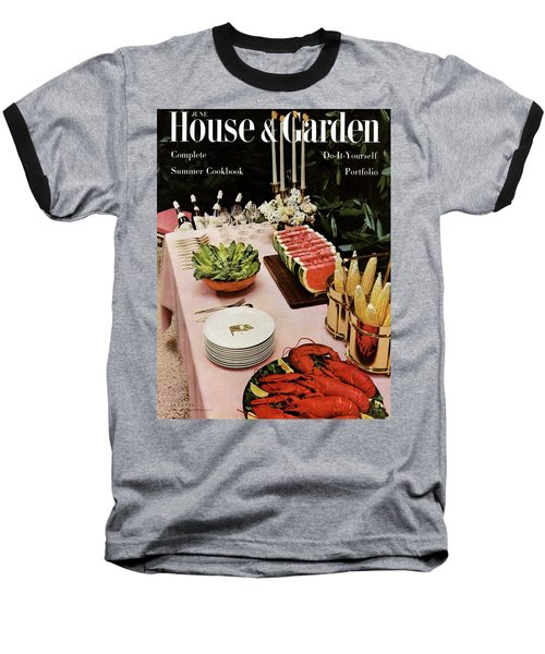 House And Garden Cover Featuring A Buffet Table Baseball T-Shirt