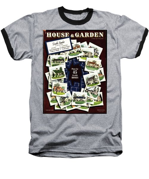 House And Garden Cover Featuring A Collage Baseball T-Shirt