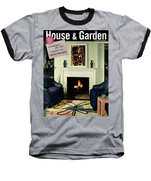 House And Garden Cover Featuring A Living Room Baseball T-Shirt