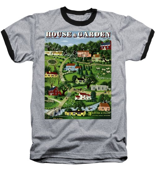 House And Garden Cover Featuring An Illustration Baseball T-Shirt