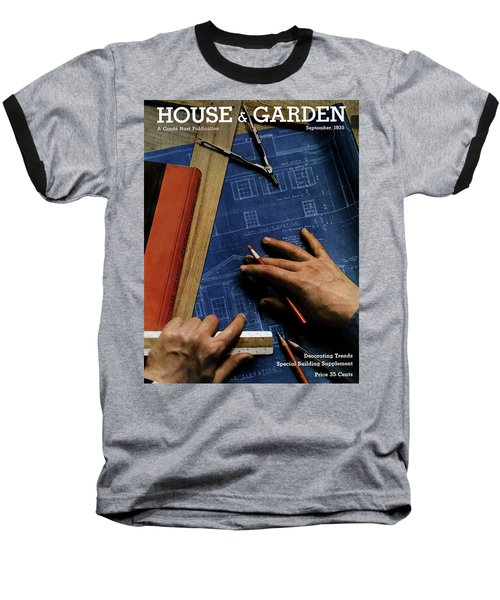 House And Garden Cover Of A Person Baseball T-Shirt