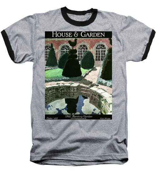 House And Garden Fall Planting Number Cover Baseball T-Shirt