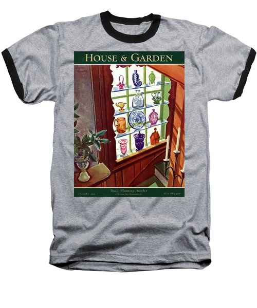 House And Garden House Planning Number Cover Baseball T-Shirt