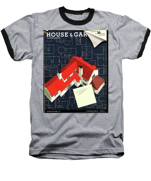 House And Garden Houses With Plans Cover Baseball T-Shirt