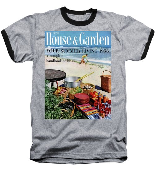 House And Garden Ideas For Summer Issue Cover Baseball T-Shirt