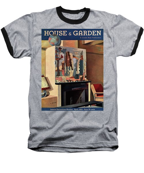 House And Garden Interior Decoration Number Cover Baseball T-Shirt