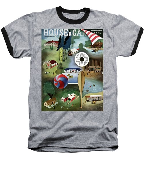House And Garden Summer Camps And Cottages Cover Baseball T-Shirt