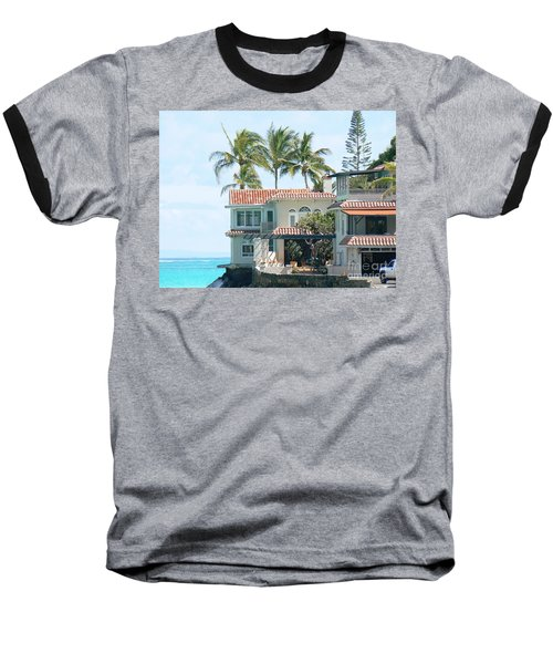 House At Land's End Baseball T-Shirt by Dona  Dugay