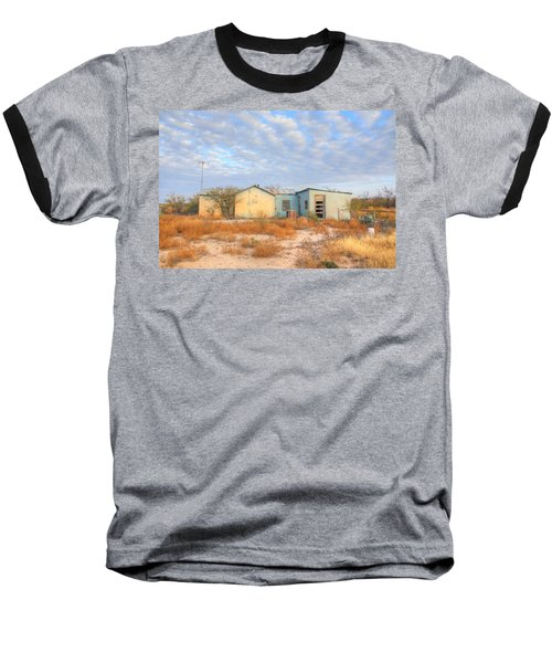 Baseball T-Shirt featuring the photograph House In Ft. Stockton Iv by Lanita Williams