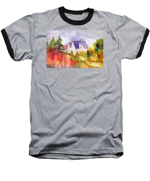 Baseball T-Shirt featuring the painting House In The Country by Yolanda Koh
