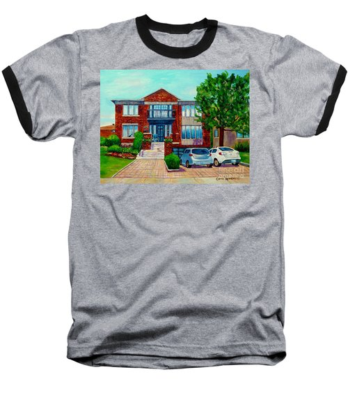 House Portrait-house  Art-commissioned  Montreal Paintings-carole Spandau Baseball T-Shirt