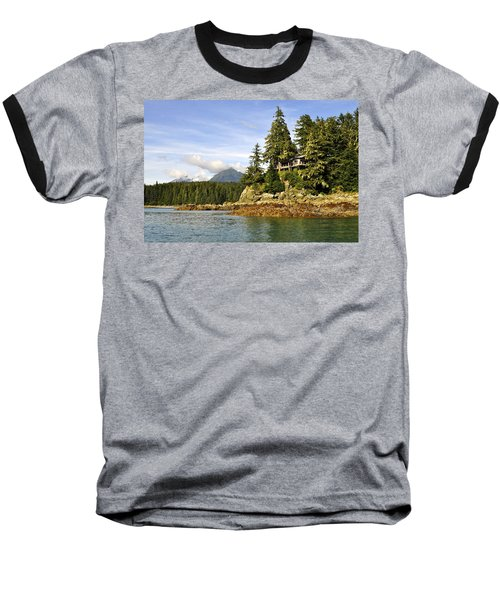 Baseball T-Shirt featuring the photograph House Upon A Rock by Cathy Mahnke