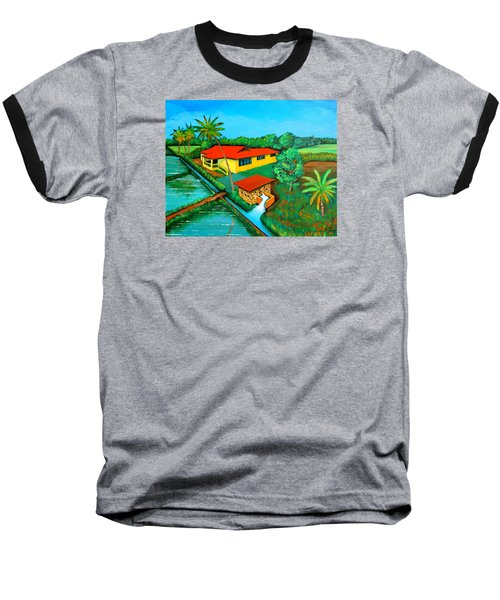 Baseball T-Shirt featuring the painting House With A Water Pump by Cyril Maza