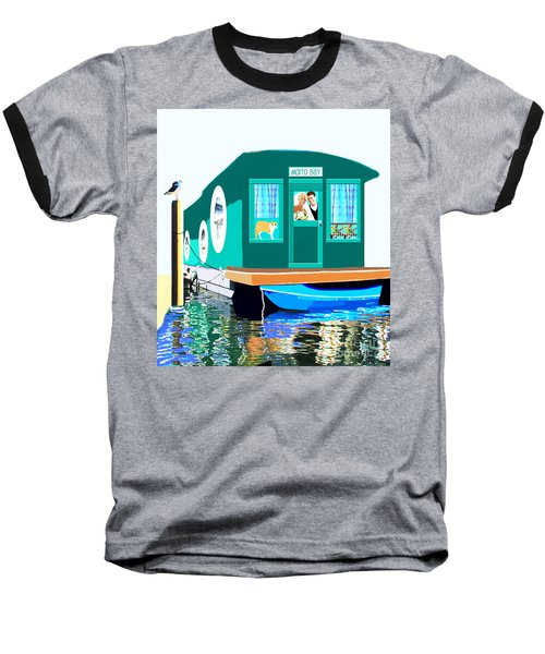 Houseboat Baseball T-Shirt by Marian Cates