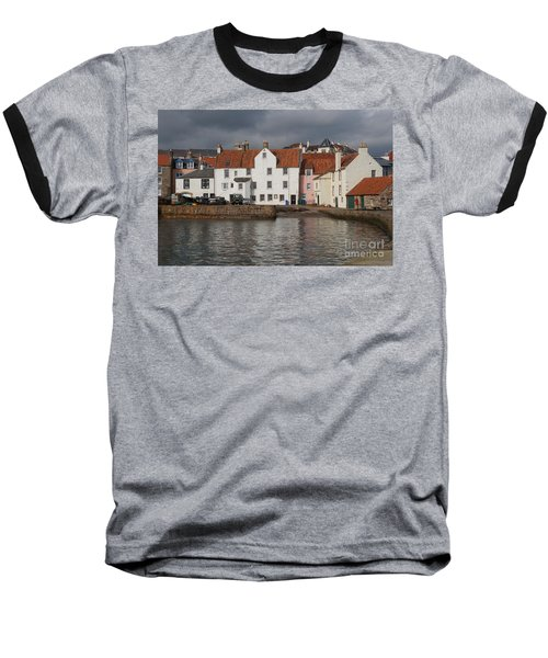 Houses At Pittenweem Harbor Baseball T-Shirt