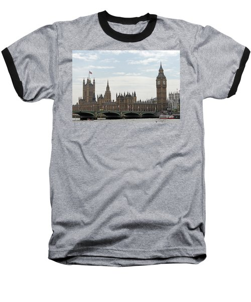 Houses Of Parliament Baseball T-Shirt by Tony Murtagh